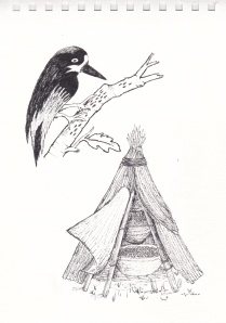 The acorn woodpecker stores in trees while California Indians traditionally stockpiled acorns over a couple of years in baskets secured in small bark-covered structures that allowed for good air circulation in the foggy coastal climate.