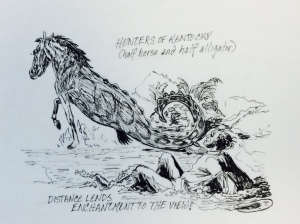From the ballad by Woodward called Hunters of Kentucky.