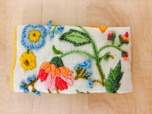 Pouch with stitching by Constance Eliassen