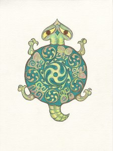 Turtle design by Meredith Eliassen.