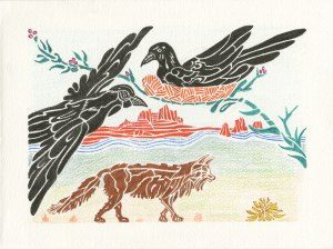 """""""Ravens Protecting the Nest"""" design by Meredith Eliassen, 2015."""