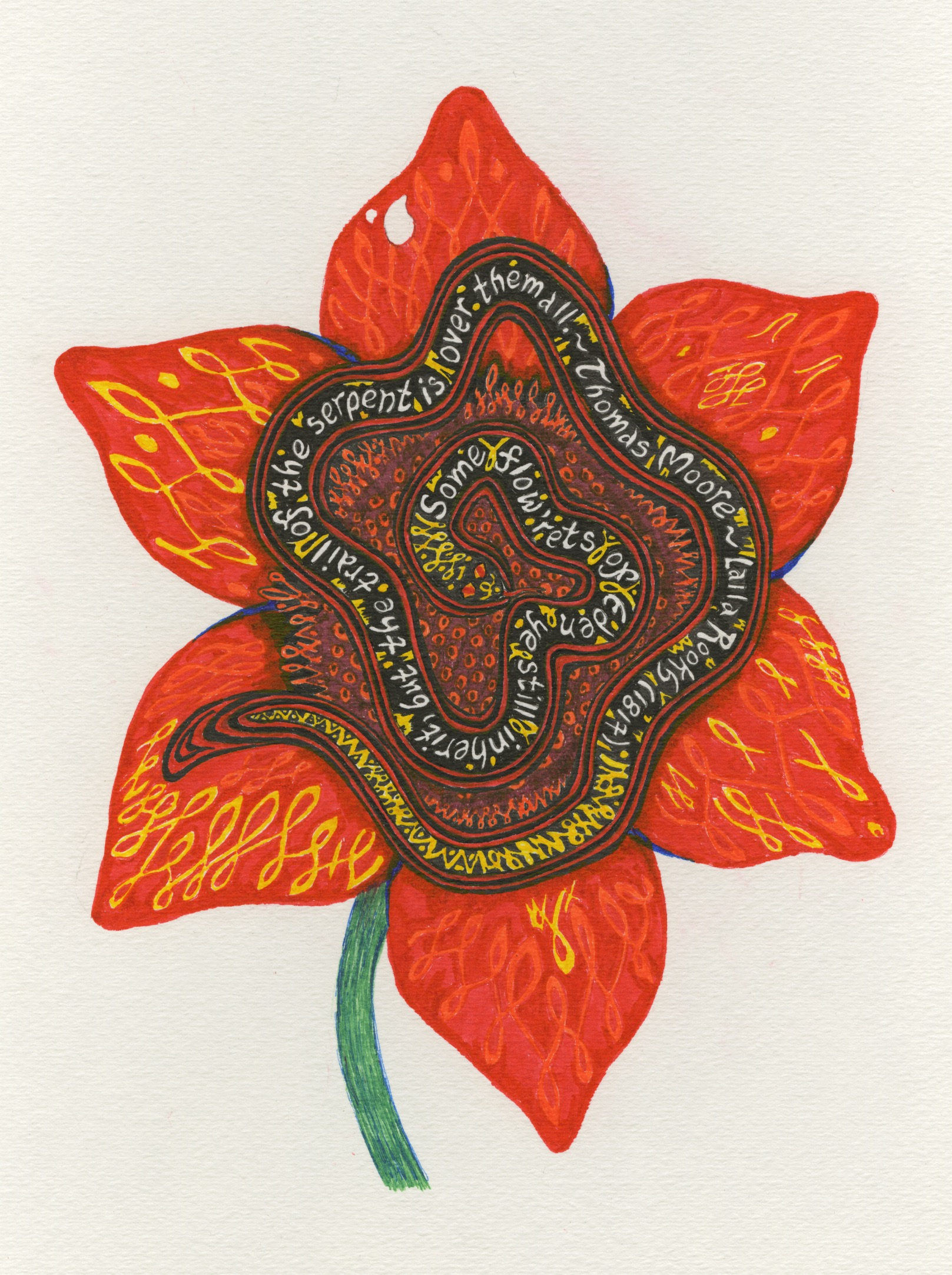 flower-with-snake