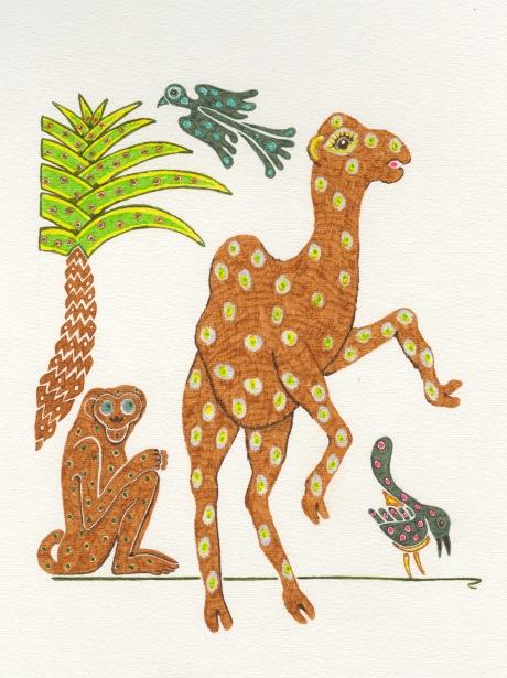 Monkey camel