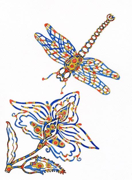 dragonfly flower